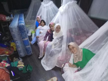 Mosquito net bed - Tanjung Puting National Park